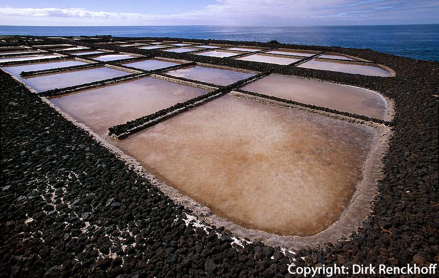 Saline beim Leuchtturm, Fuencaliente, La Palma, Kanarische Inseln, Spanien