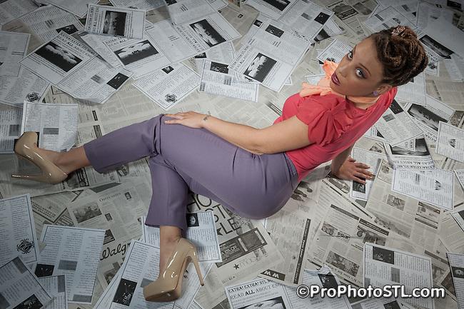 ESG's retro photo shoot unedited