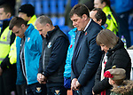 St Johnstone v Hamilton Accies…10.11.18…   McDiarmid Park    SPFL<br />Saints manager Tommy Wright observing the minutes silence<br />Picture by Graeme Hart. <br />Copyright Perthshire Picture Agency<br />Tel: 01738 623350  Mobile: 07990 594431