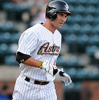 August 2, 2009: Outfielder Nathan Metroka (44) of the Greeneville Astros, rookie Appalachian League affiliate of the Houston Astros, in a game at at Pioneer Park in Greeneville, Tenn. Photo by:  Tom Priddy/Four Seam Images