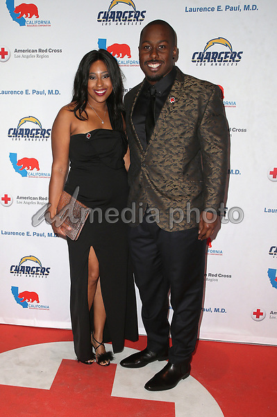 09 March 2018 - Los Angeles, California - Damion Square, Guest. American Red Cross Annual Humanitarian Celebration Honoring The LA Chargers at the Skirball Cultural Center. Photo Credit: F. Sadou/AdMedia