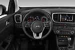 Car pictures of steering wheel view of a 2019 KIA Sportage More 5 Door SUV