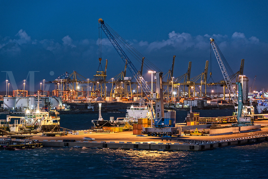 Shipping industry port of Civitavecchia, Italy