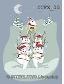 Fabrizio, Comics, CUTE ANIMALS, LUSTIGE TIERE, ANIMALITOS DIVERTIDOS, Christmas Santa, Snowman, Weihnachtsmänner, Schne, paintings+++++,ITFZ35,#AC#