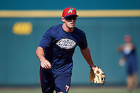 Fort Myers Miracle shortstop Logan Wade (4) during practice before a game against the Bradenton Marauders on April 9, 2016 at McKechnie Field in Bradenton, Florida.  Fort Myers defeated Bradenton 5-1.  (Mike Janes/Four Seam Images)