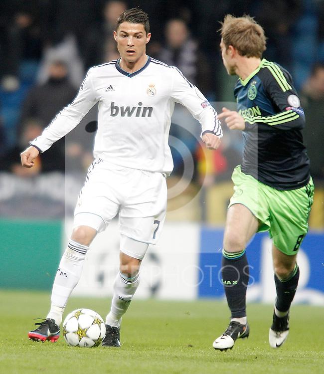 Real Madrid's Cristiano Ronaldo during Champions League Match. December 04, 2012. (ALTERPHOTOS/Alvaro Hernandez)