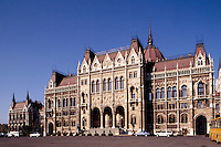 Hungarian House of Parliament, patterned after Westminister in England (1896-1904). Budapest, Hungary