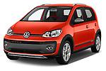 2018 Volkswagen Up Cross Up 5 Door Hatchback angular front stock photos of front three quarter view