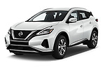 2020 Nissan Murano SV 5 Door SUV Angular Front automotive stock photos of front three quarter view