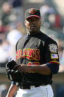 May 26th, 2008:  Francisco Liriano (47) of the Rochester Red Wings, Class-AAA affiliate of the Minnesota Twins, during a game at Frontier Field in Rochester, NY.  Photo by:  Mike Janes/Four Seam Images
