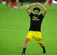 WASHINGTON, DC - OCTOBER 28: Youness Mokhtar #34 of Columbus Crew SC warming up during a game between Columbus Crew and D.C. United at Audi Field on October 28, 2020 in Washington, DC.