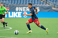 FOXBOROUGH, MA - APRIL 17: Damian Rivera #72 of New England Revolution II during a game between Richmond Kickers and Revolution II at Gillette Stadium on April 17, 2021 in Foxborough, Massachusetts.