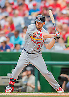 29 May 2016: St. Louis Cardinals outfielder Brandon Moss in action against the Washington Nationals at Nationals Park in Washington, DC. The Nationals defeated the Cardinals 10-2 to split their 4-game series. Mandatory Credit: Ed Wolfstein Photo *** RAW (NEF) Image File Available ***