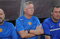 Manchester United coach Sir Alex Ferguson. Manchester United defeated Barcelona FC 2-1 at FedEx Field in Landover, MD Saturday July 30, 2011.