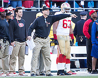 The Carolina Panthers played the San Francisco 49ers at Bank of America Stadium in Charlotte, NC in the NFC divisional playoffs on January 12, 2014.  The 49ers won 23-10.  San Francisco 49ers head coach Jim Harbaugh