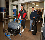 Fabio Cardoso and Pedro Caixinha arrive in Glasgow this morning from Lisbon