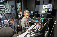 Ewan Donaldson at the broadcast suite and studio for the Swansea City AFC live broadcasts at the Liberty Stadium, Wales, UK. Wednesday 30 November 2018