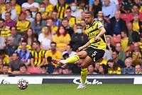 11th September 2021; Vicarge Road, Watford, Herts,  England;  Premier League football, Watford versus Wolverhampton Wanderers; William Troost-Ekong of Watford