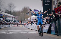 Zdeněk ŠTYBAR (CZE/Deceuninck-Quick Step) wins the 74th Omloop Het Nieuwsblad 2019 <br /> <br /> Gent to Ninove (BEL): 200km<br /> <br /> ©kramon