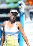 Caroline Wozniacki (DEN) loses at Australian Open in Melbourne Australia on 20th January 2013