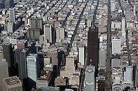 aerial photograph California Street San Francisco financial district