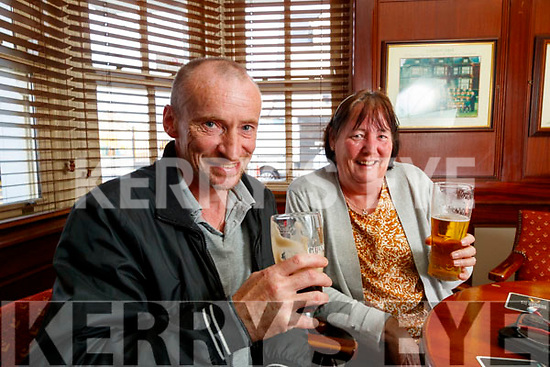 Mike and Sarah Galvin in the Castle bar on Tuesday.