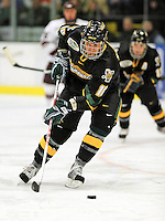 2 January 2009: University of Vermont Catamounts' forward Viktor Stalberg, a Junior from Gothenburg, Sweden, in action against the Colgate Raiders during the second game of the 2009 Catamount Cup Ice Hockey Tournament hosted by the University of Vermont at Gutterson Fieldhouse in Burlington, Vermont. The Catamounts defeated the Raiders 6-4 to move onto the championship game against the St. Lawrence Saints...Mandatory Photo Credit: Ed Wolfstein Photo
