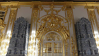 2A25H9C Interior of Catherine Palace, a Rococo palace located in the town of Tsarskoye Selo.