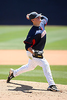 Bryce Bandilla #23 pitches for the Arizona Wildcats in a game against the UCLA Bruins at Sancet Stadium on April 25, 2010 in Tucson, Arizona. .Photo By Bill Mitchell / Four Seam Images