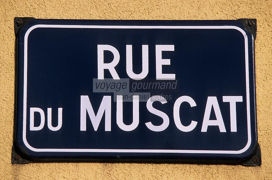"""Europe/France/Alsace/68/Haut-Rhin/Eguisheim : Plaque de rue """"Rue du Muscat"""""""