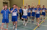 Knack Roeselare B - Doskom Moorslede : Knack B is kampioen en viert dit <br /> foto VDB / BART VANDENBROUCKE