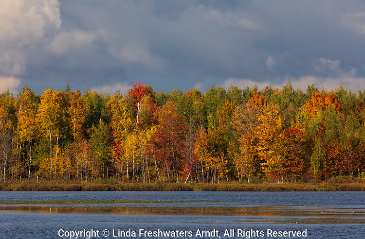 A clearing storm on a pretty autumn day in northern Wisconsin.