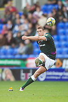 Steven Shingler of London Irish takes a penalty kick during the Aviva Premiership match between London Irish and Bath Rugby at the Madejski Stadium on Saturday 22nd September 2012 (Photo by Rob Munro)