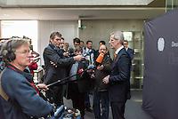 """49. Sitzung des NSU-Untersuchungsausschuss des Deutschen Bundestag.<br /> Als Zeuge war der ehemalige Neonazi und V-Mann Michael See alias Michael von Dolsperg (Deckname """"Tarif"""") geladen.<br /> Im Bild: Clemens Binninger, Ausschussvorsitzender (CDU), beim Pressestatement nach der nichtoeffentlichen Zeugenvernehmung.<br /> 16.2.2017, Berlin<br /> Copyright: Christian-Ditsch.de<br /> [Inhaltsveraendernde Manipulation des Fotos nur nach ausdruecklicher Genehmigung des Fotografen. Vereinbarungen ueber Abtretung von Persoenlichkeitsrechten/Model Release der abgebildeten Person/Personen liegen nicht vor. NO MODEL RELEASE! Nur fuer Redaktionelle Zwecke. Don't publish without copyright Christian-Ditsch.de, Veroeffentlichung nur mit Fotografennennung, sowie gegen Honorar, MwSt. und Beleg. Konto: I N G - D i B a, IBAN DE58500105175400192269, BIC INGDDEFFXXX, Kontakt: post@christian-ditsch.de<br /> Bei der Bearbeitung der Dateiinformationen darf die Urheberkennzeichnung in den EXIF- und  IPTC-Daten nicht entfernt werden, diese sind in digitalen Medien nach §95c UrhG rechtlich geschuetzt. Der Urhebervermerk wird gemaess §13 UrhG verlangt.]"""