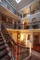 BNPS.co.uk (01202) 558833. <br /> Pic: Duke's/BNPS<br /> <br /> Pictured: The impressive staircase and hall of Wormington Grange. <br /> <br /> The lavish contents of one of Britain's most beautiful stately homes are being auctioned off in a £1m everything must go sale.<br /> <br /> Wormington Grange has been owned since the 1970s by John Evetts, the grandson of Lord Ismay, Winston Churchill's chief military strategist during World War Two.<br /> <br /> Mr Evetts has sold the £15m neoclassical Cotswolds mansion as he is downsizing to a smaller property in the area.<br /> <br /> The sale, to be conducted by Duke's, of Dorchester, Dorset, features over 1,000 items ranging in value from £50 kitchen glasses to £100,000 works of art.