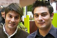Christophe Ferrandis (right), owner of Clos Signadore, and his brother Henri, Patrimonio, Corsica, France