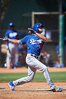 Los Angeles Dodgers Cody Thomas (28) during an Instructional League game against the Cleveland Indians on October 10, 2016 at the Camelback Ranch Complex in Glendale, Arizona.  (Mike Janes/Four Seam Images)