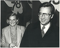 Robert Bourassa et son epouse<br /> le 14 avril 1978<br /> <br /> <br /> <br /> <br /> PHOTO :  Agence Quebec Presse