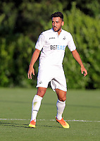 Pictured: Neil Taylor of Swansea Monday 15 August 2016<br /> Re: Swansea City FC U23 v West Bromwich Albion at Landore training ground, Swansea, Wales, UK