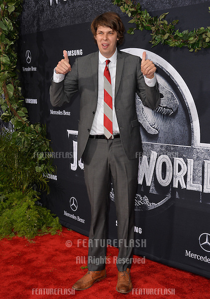 """Matty Cardarople at the world premiere of """"Jurassic World"""" at the Dolby Theatre, Hollywood.<br /> June 10, 2015  Los Angeles, CA<br /> Picture: Paul Smith / Featureflash"""