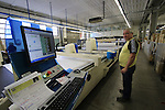 Davide cutting department of the fabric, Santini Factory, Lallio, Italy. 30th September 2015.<br /> Picture: Eoin Clarke | Newsfile