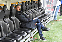 20191102 – Lens , France : Head coach Philippe Montanier of Lens pictured during a French Ligue 2 soccer game between Racing Club de Lens and FC Lorient , a football game on the 13th matchday in the French second league, on saturday 2 nd of November 2019 at the Stade Bollaert Delelis in Lens , France . PHOTO SPORTPIX.BE | DAVID CATRY