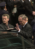 Canadian Prime Minister and leader of the Canadian Liberal Party Jean Chretien's image is reflecting on his car.  <br /> Lates polls (nov 10) give an edge to the liberals with 48 % of the votes intention againts 26 % for the Alliance (formely the Reform) Party headed by Stockwell Day. Remaining partys (NDP, Bloc Quebecois and Conservative Party) each get around 8 % of votes.<br /> Federal elections will be held on Monday November 27, 2000