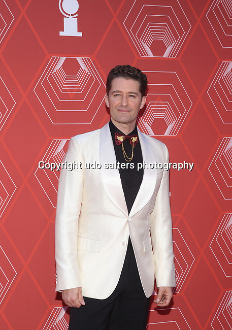 Matthew Morrison attends the 74th Tony Awards-Broadway's Back! arrivals at the Winter Garden Theatre in New York, NY, on September 26, 2021. (Photo by Udo Salters/Sipa USA)