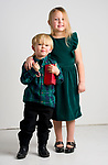 WATERBURY, CT-120218JS01- Christmas Kids, Gary Kobelski, Jr.,2,  and his sister Cadence, 5, of Watertown. <br /> Jim Shannon Republican American