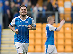 St Johnstone v Partick Thistle…19.08.17… McDiarmid Park… SPFL<br />Paul Paton all smiles at full time<br />Picture by Graeme Hart.<br />Copyright Perthshire Picture Agency<br />Tel: 01738 623350  Mobile: 07990 594431