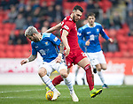 St Johnstone v AberdeenÖ23.02.19Ö  McDiarmid Park    SPFL<br /> Richard Foster and Connor McLennan<br /> Picture by Graeme Hart. <br /> Copyright Perthshire Picture Agency<br /> Tel: 01738 623350  Mobile: 07990 594431