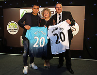 Pictured L-R: Jefferson Montero with sponsors  Wednesday 18 May 2017<br /> Re: Swansea City FC, Player of the Year Awards at the Liberty Stadium, Wales, UK.