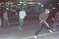 1990 FILE PHOTO (Exact date unknown):  OKA Crisis -  SQ and riot in Chateauguay.<br /> <br /> PHOTO :  Agence Quebec Presse - <br /> Robert Galbraith