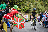 Esteban Chaves (COL/Mitchelton-Scott) up the Col de Marie Blanque<br /> <br /> Stage 9 from Pau to Laruns 153km<br /> 107th Tour de France 2020 (2.UWT)<br /> (the 'postponed edition' held in september)<br /> ©kramon